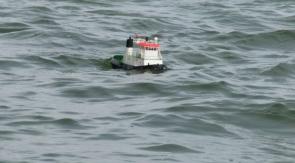 in schwerer See