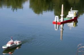 die Maschinenleistung kann erhöht werden - das Schiff ist gerettet - Übung erfolgreich