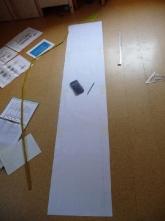 die Decks werden aus dem Generalplan im Maßstab 1 zu 100 auf Papier übertragen