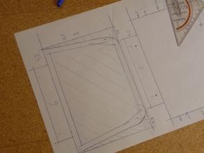 aus den übereinander gezeichneten Decks werden die Punkte für die Spanten entnommen