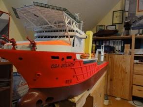 mit dem neuen Lack wirkt das Schiff einfach wunderbar.